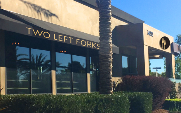 Two Left Forks Signage Goes Up!