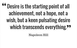 Napoleon Hill on desire