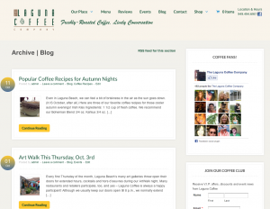 Inside page - Laguna Coffee Co - Laguna Beach