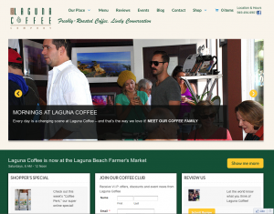 """Laguna Coffee - """"AFTER"""" shot - new site by Armitage Inc"""